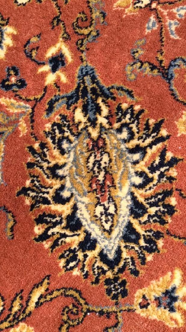Floral Motif Detailed Fringed Wool Rug - 3