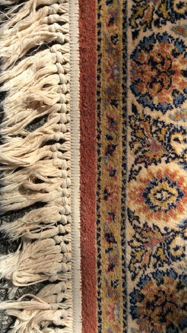 Floral Motif Detailed Fringed Wool Rug - 6