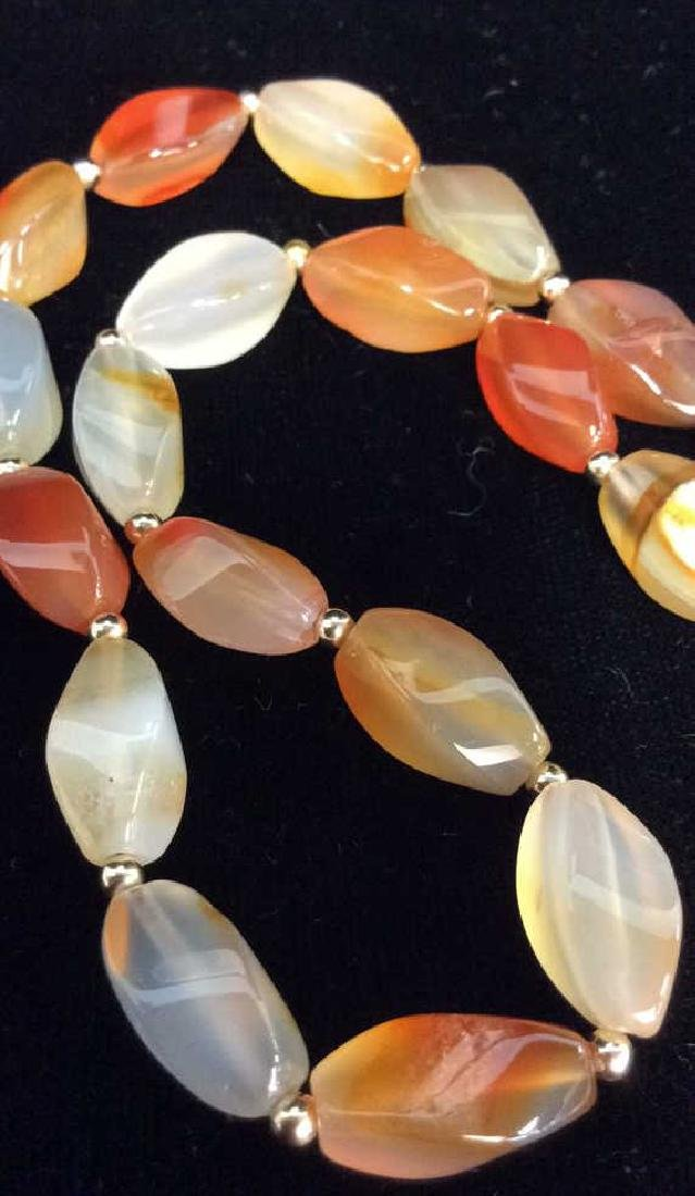 Natural Stone Beaded Necklace Jewelry