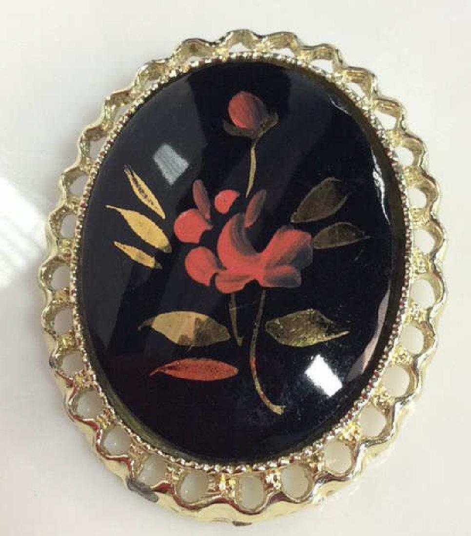 Painted Faux Stone Women's Brooch Pin - 2