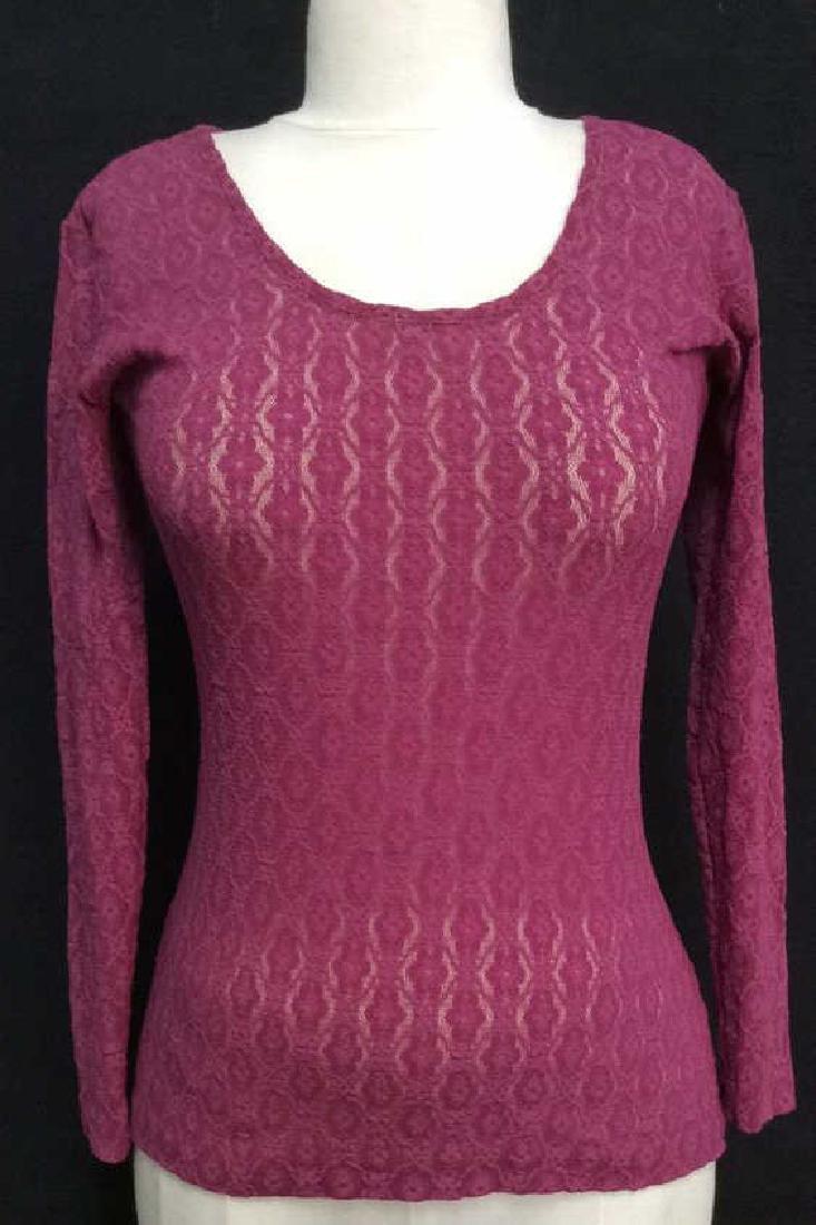 HERMAN GEIST Purple Toned Lace Shirt