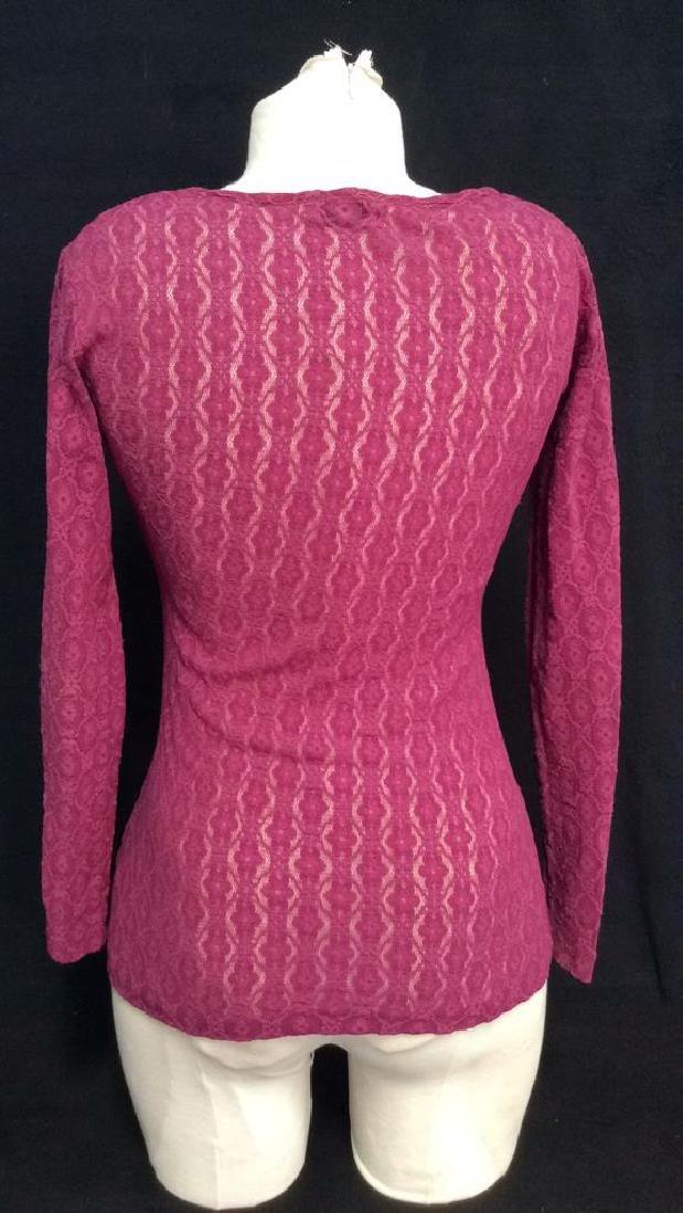 HERMAN GEIST Purple Toned Lace Shirt - 4