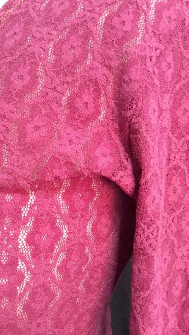 HERMAN GEIST Purple Toned Lace Shirt - 5