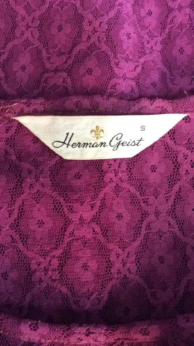 HERMAN GEIST Purple Toned Lace Shirt - 6