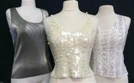 Lot 3 Sequin Ladies Fashion Tank Tops