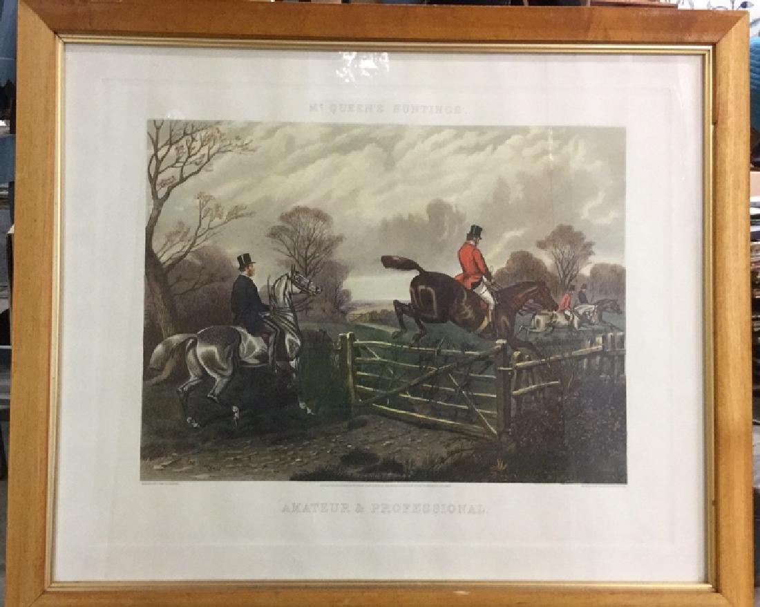Print Of A John Sturgess Fox Hunt Painting