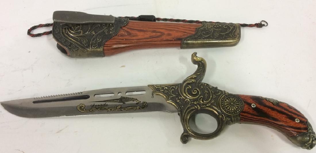 DORADO Intricately Detailed Knife & Knife Cover
