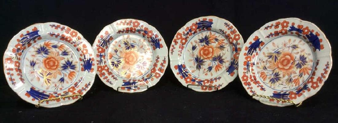 Lot 4 Antique Mason's Ironstone Imari Plates