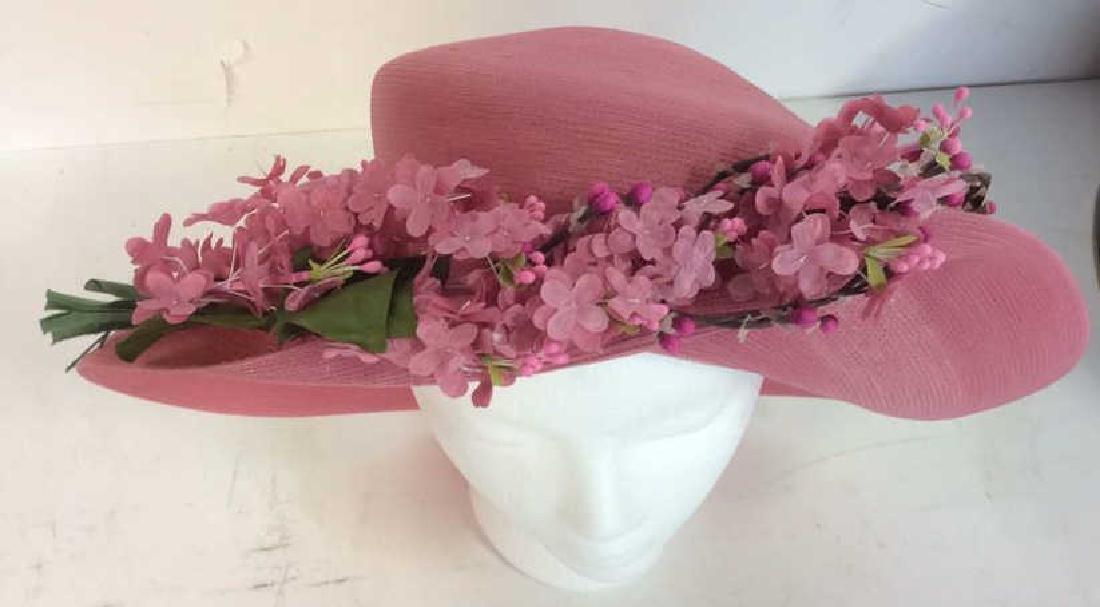 Sarah Soss Millinery Pink Fashion Hat