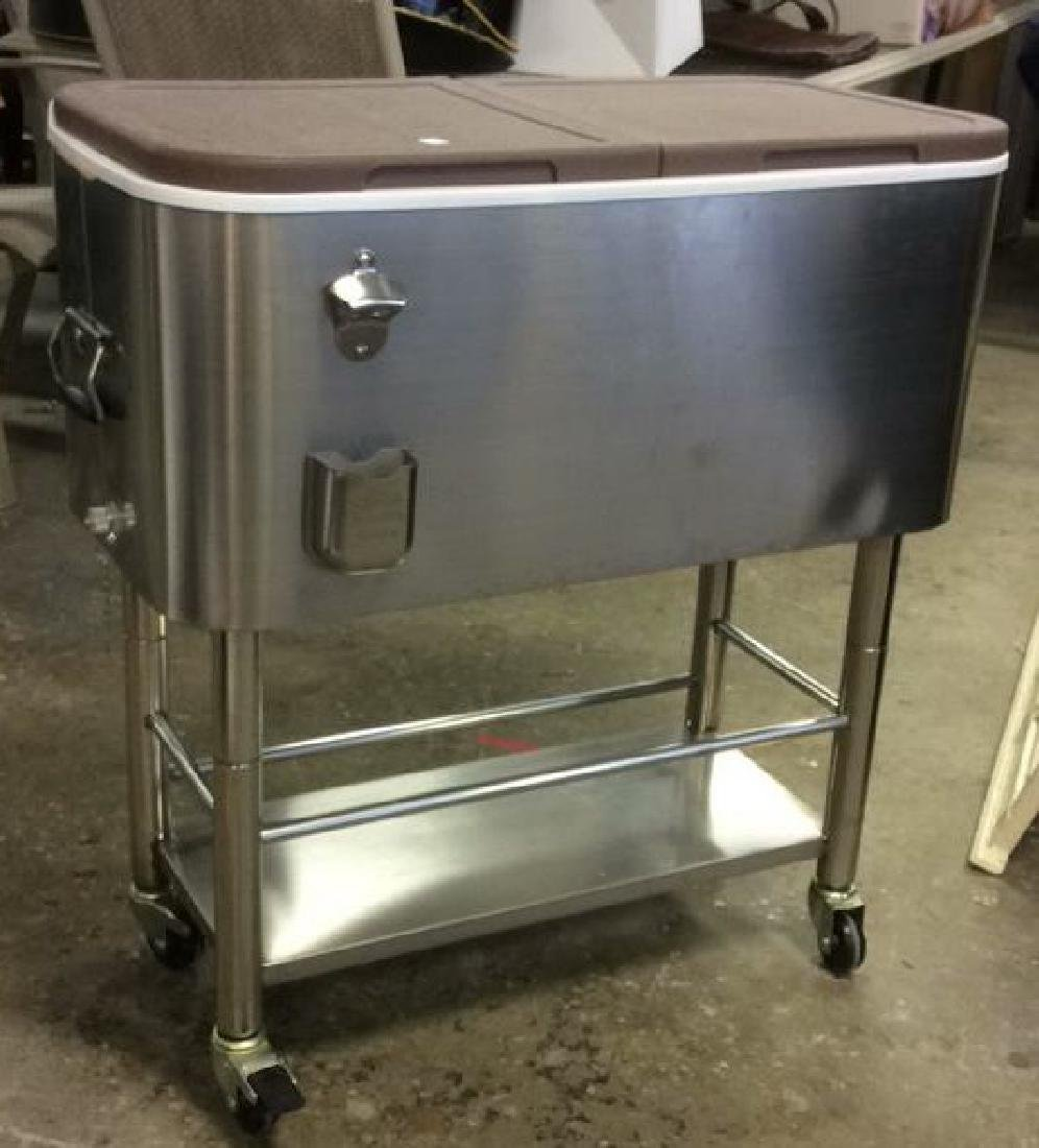 Industrial Size Style Cooler On Cart