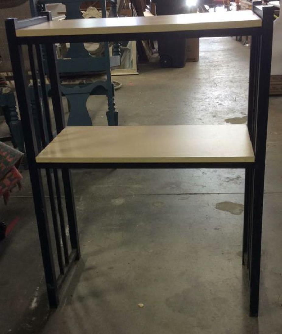 2 Tier Wooden & Metal Shelf