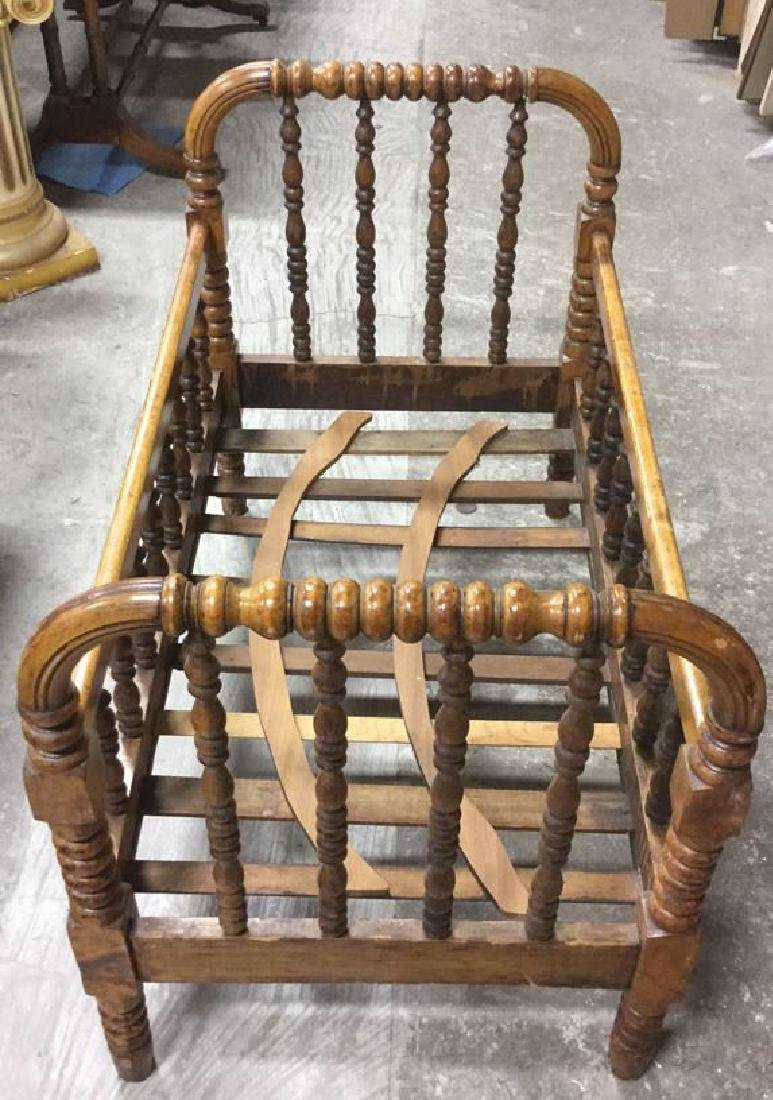 Antique Wooden Spindle Crib