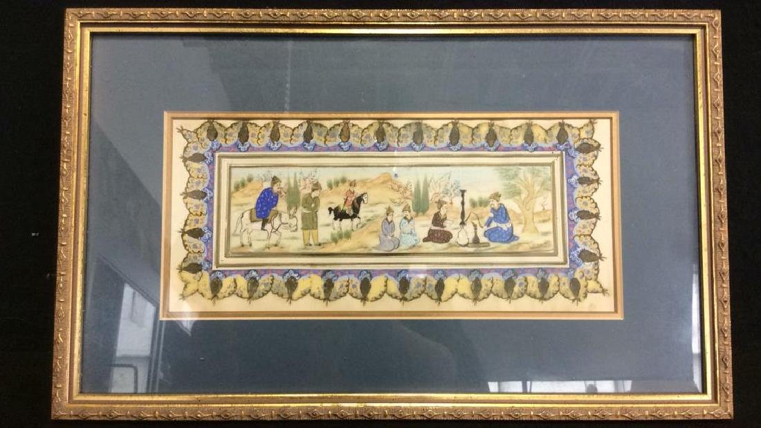 Middle Eastern Style Painted Porcelain Plaque