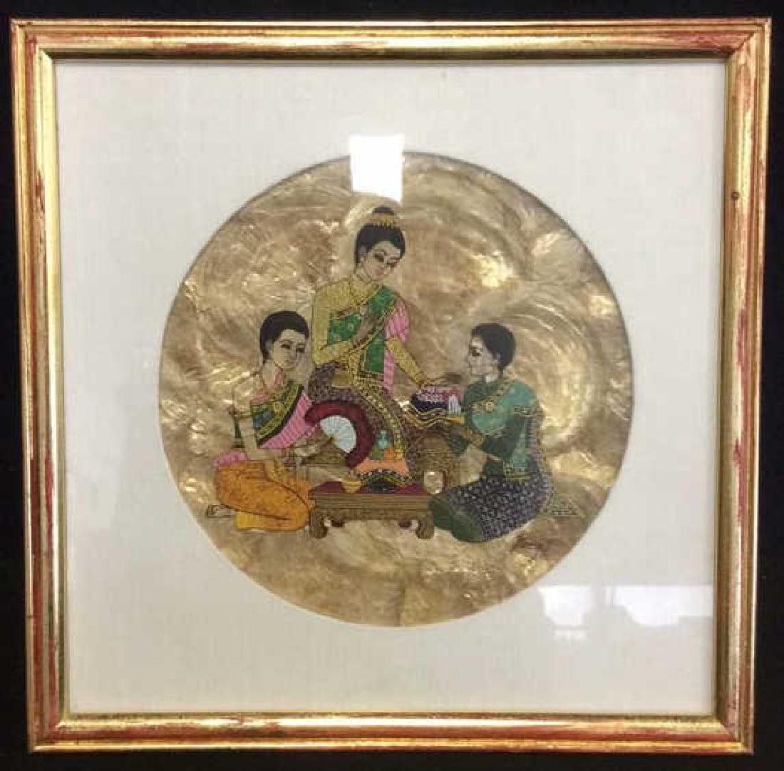 Framed Indian Style Painted Artwork