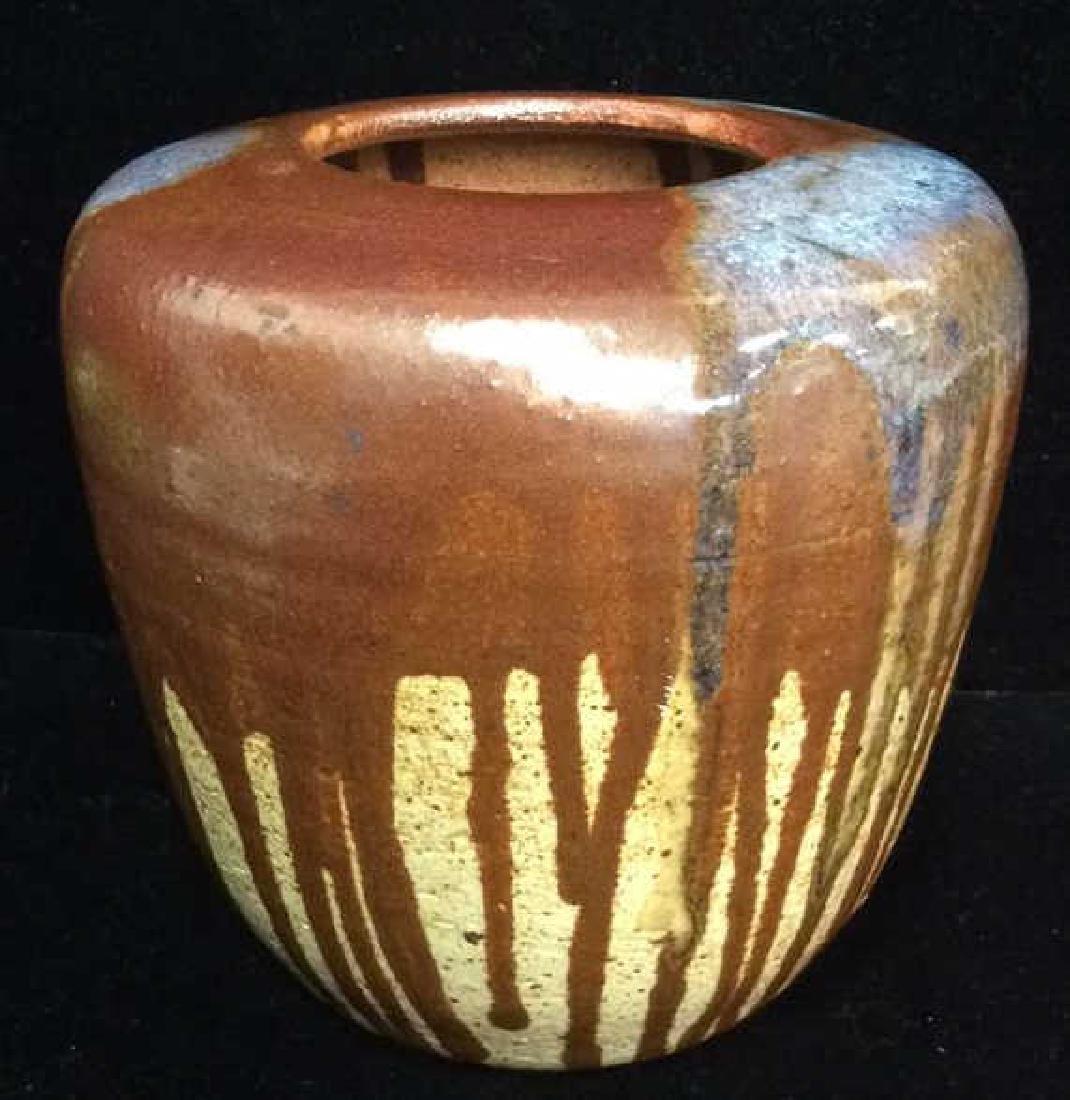 Mid Century Japanese Dripped Glaze Vase