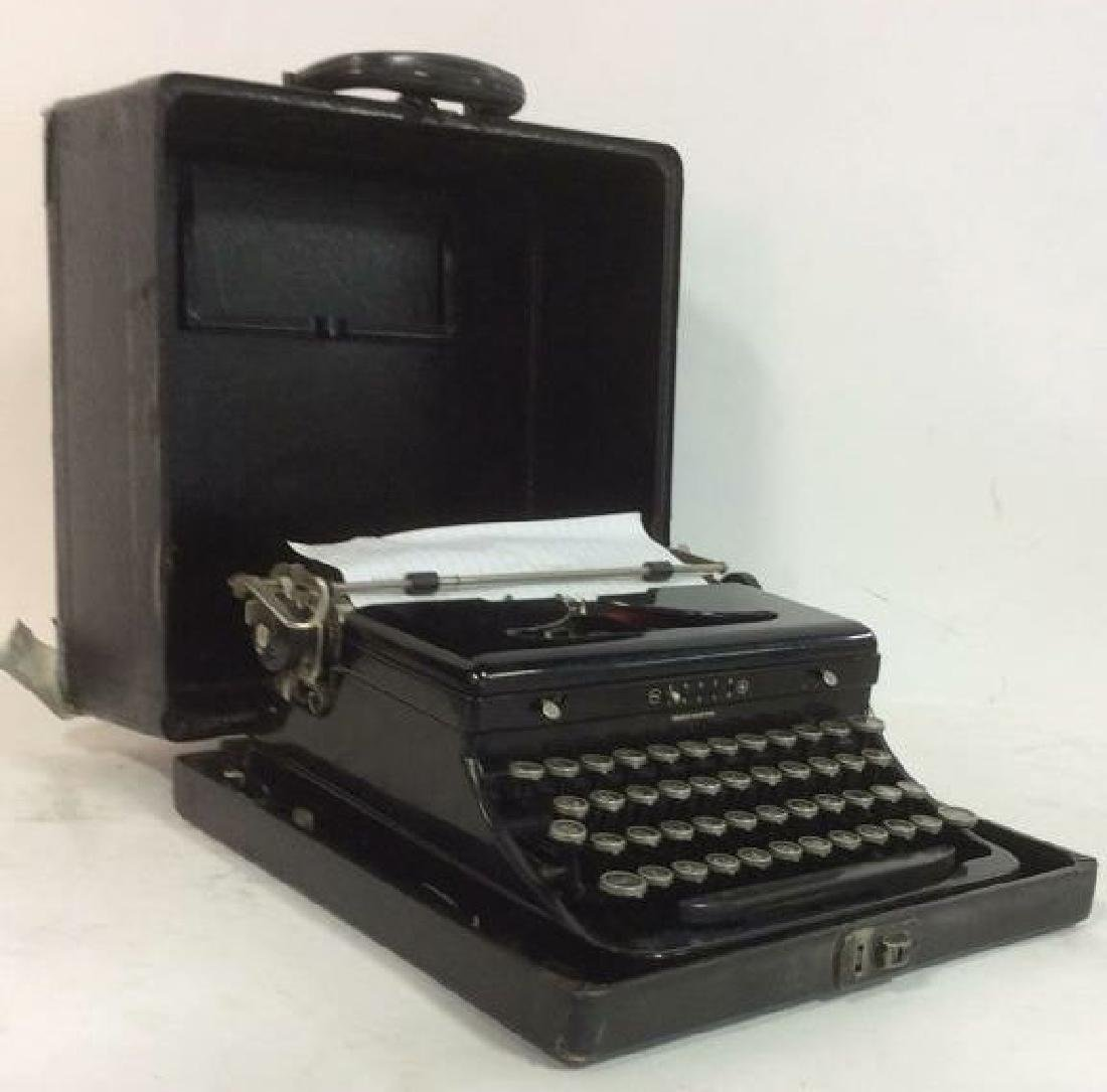 Vintage Black Toned Typewriter In Case
