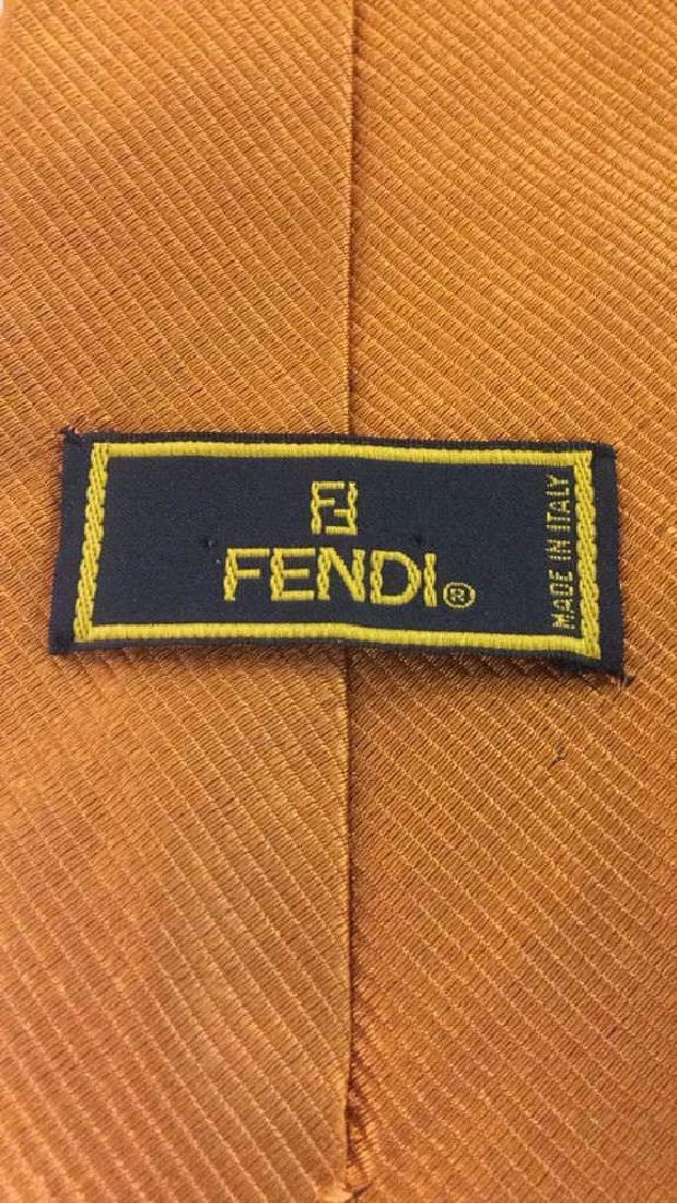 Lot 2 GIVENCHY Handkerchief & FENDI Tie C 1970's