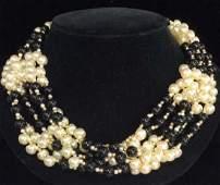 Womens Multi Stranded Faux Pearl Jewelry