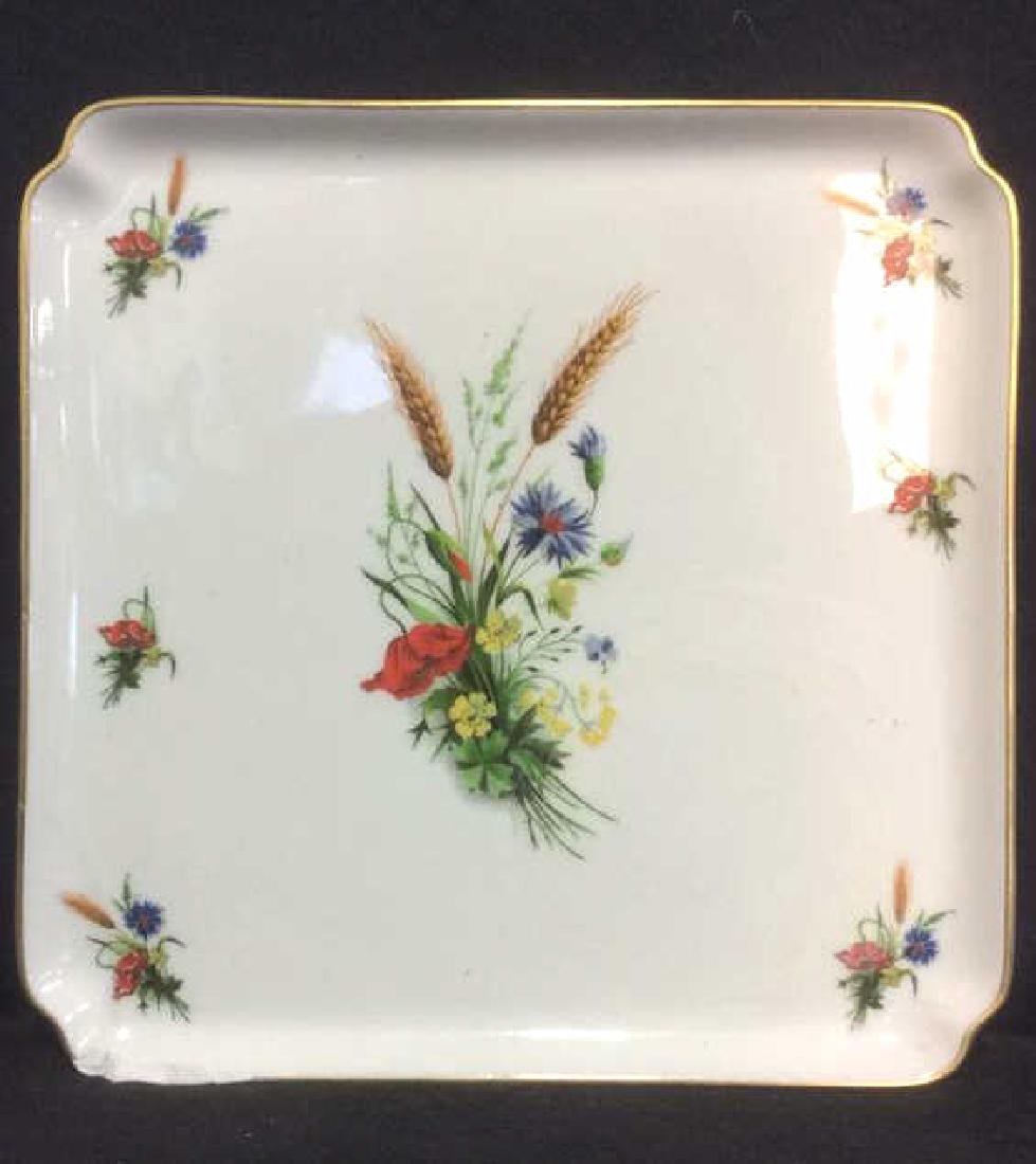 LIMOGES FRANCE Porcelain Painted Serving Dish