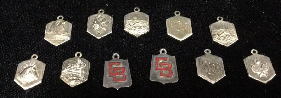 Lot 11 Vintage Silver Toned Sports Medals w Box