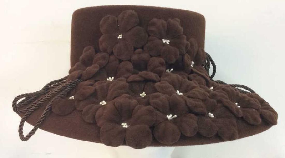 Ladies Rivka Milliner Couture Fashion Hat