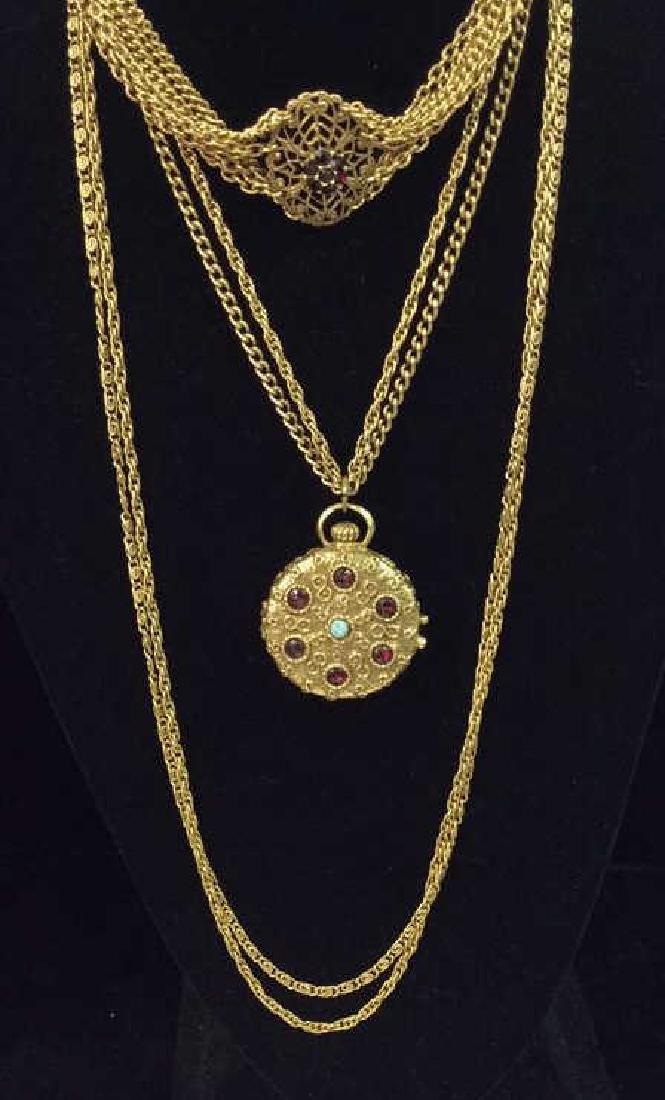 Lot 2 Vintage Estate Necklace and Locket
