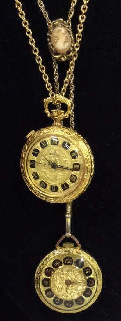 Lot Two Vintage Estate Jewelry Pendant Watch