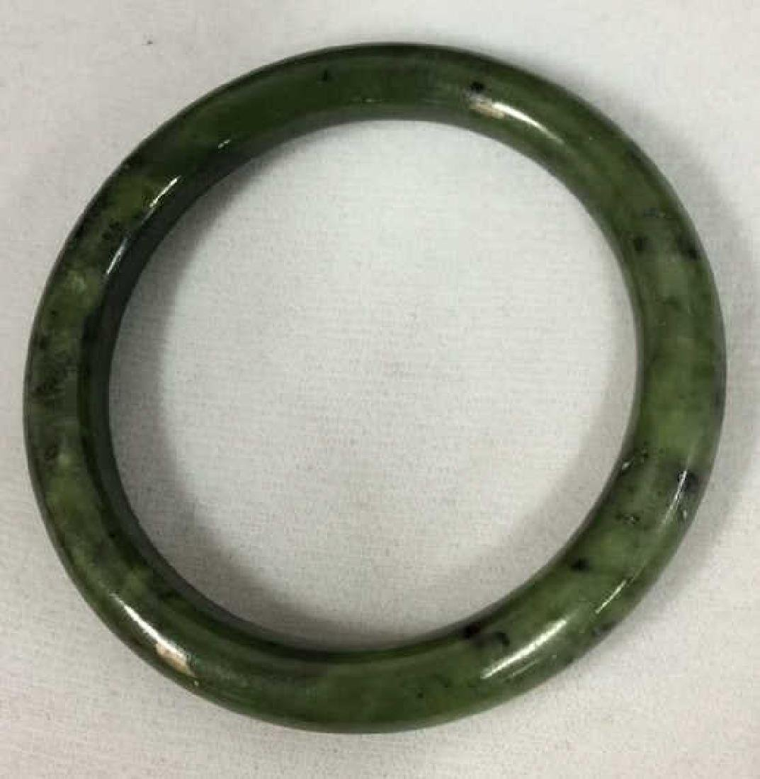 Natural Jade Stone Bangle Bracelet