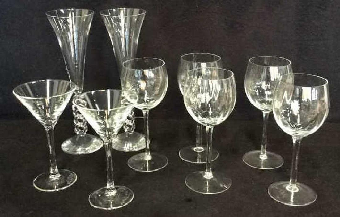 Lot 9 Assorted Glass and Crystal Stemware