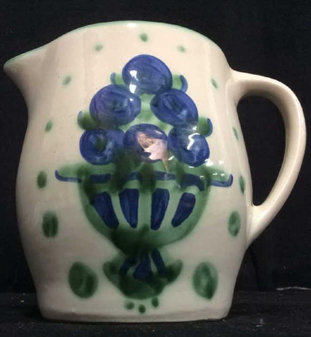 MA HADLEY Painted Ceramic Pitcher