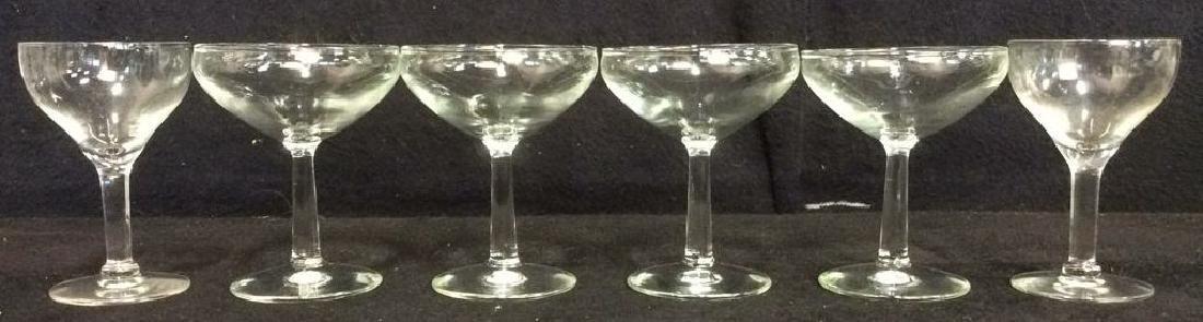 Lot 6 Cordial Glasses Barware