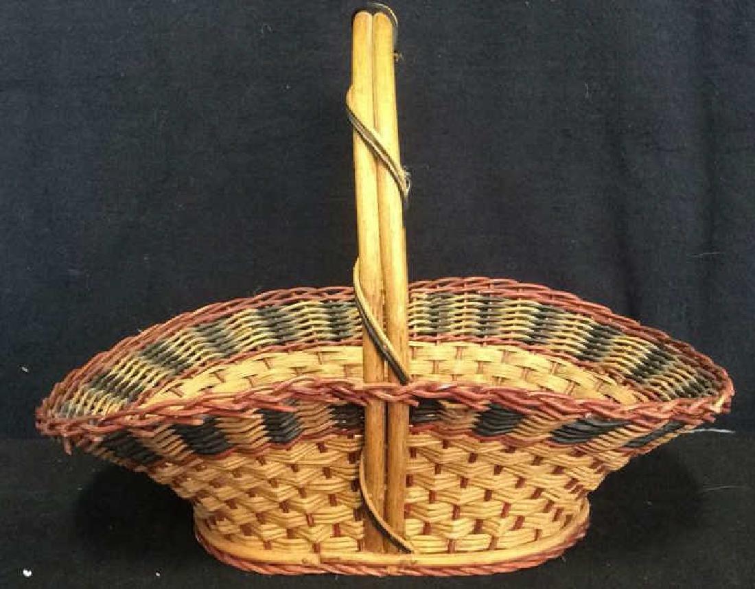 Handled Woven Wicker Basket
