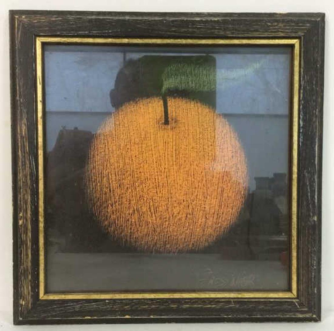 Framed Print Of Orange as Still life Artwork
