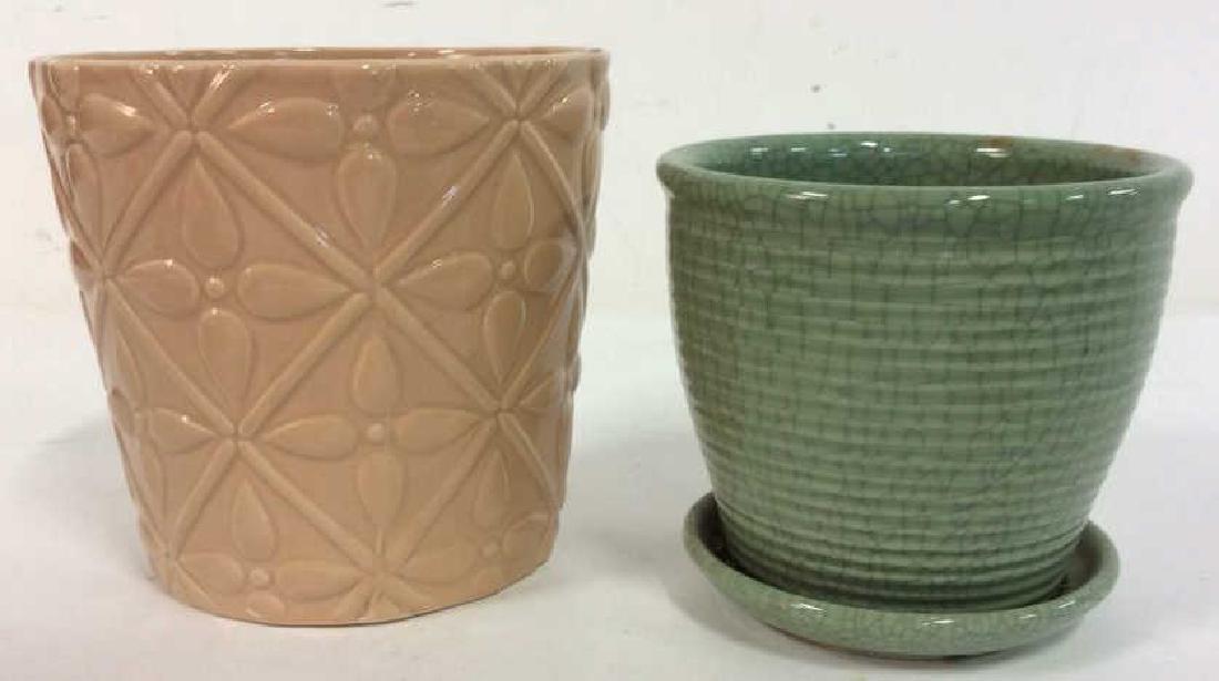 Lot 2 Ceramic Planters Flower Pots