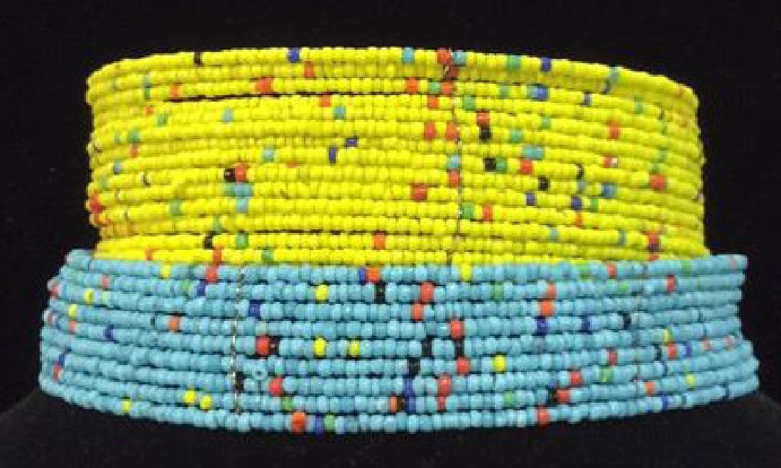 Lot 2 Beaded Collar Necklace Jewelry