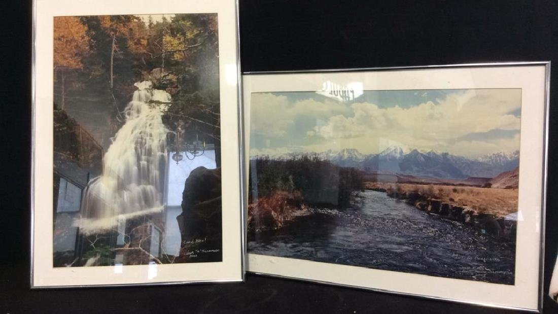 Pair Framed Landscape Photographs