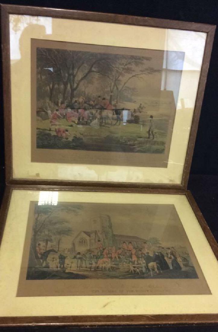 Pair Framed Art Prints Death&Burial of Tom Moody