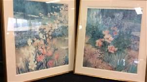 Pair Framed MH Hurlimann Armstrong Art Prints