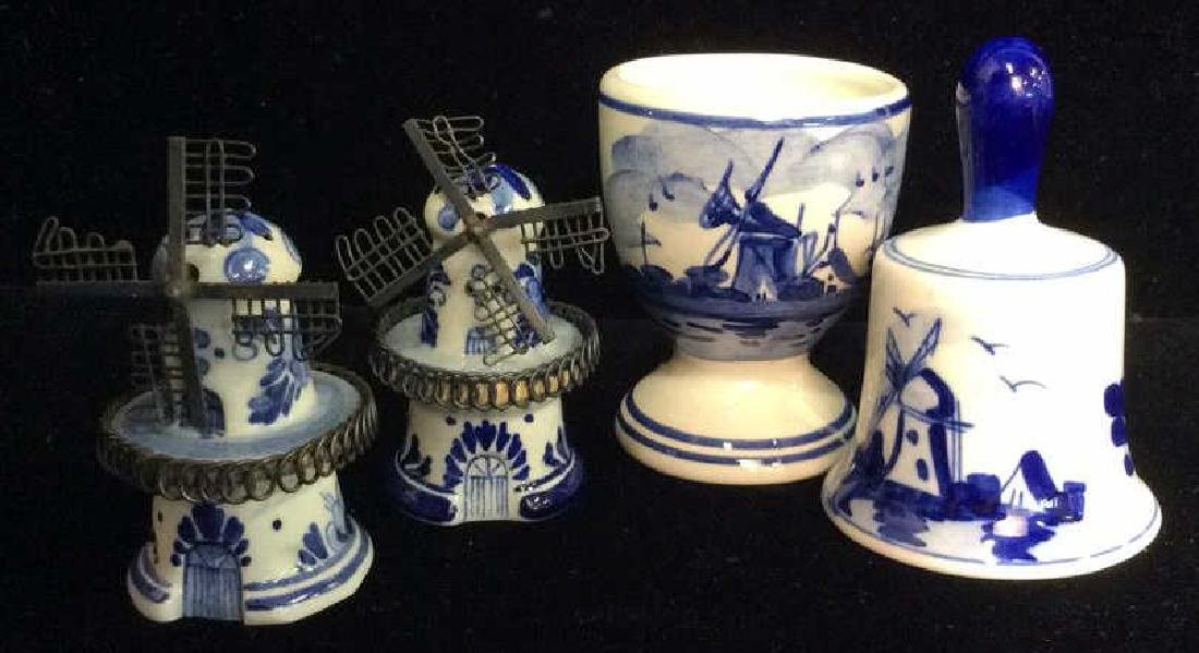Lot 4 Delft Holland Pottery Table top Accessories