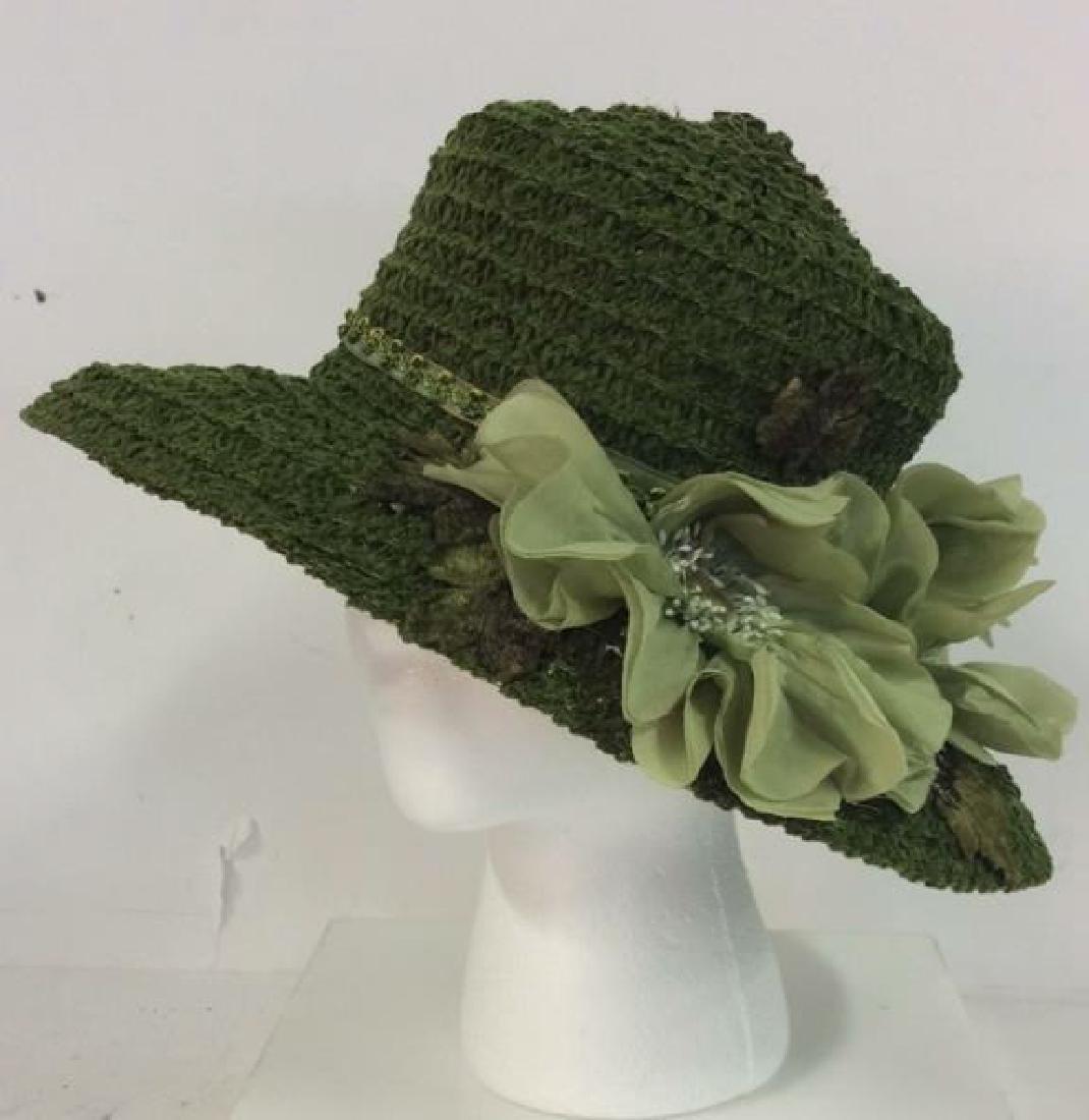 Rivka Millinery Ladies Fashion Hat w Flowers