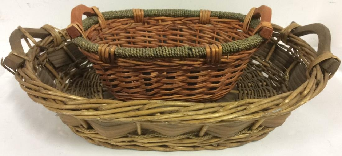 Lot 2 Handled Wicker Baskets