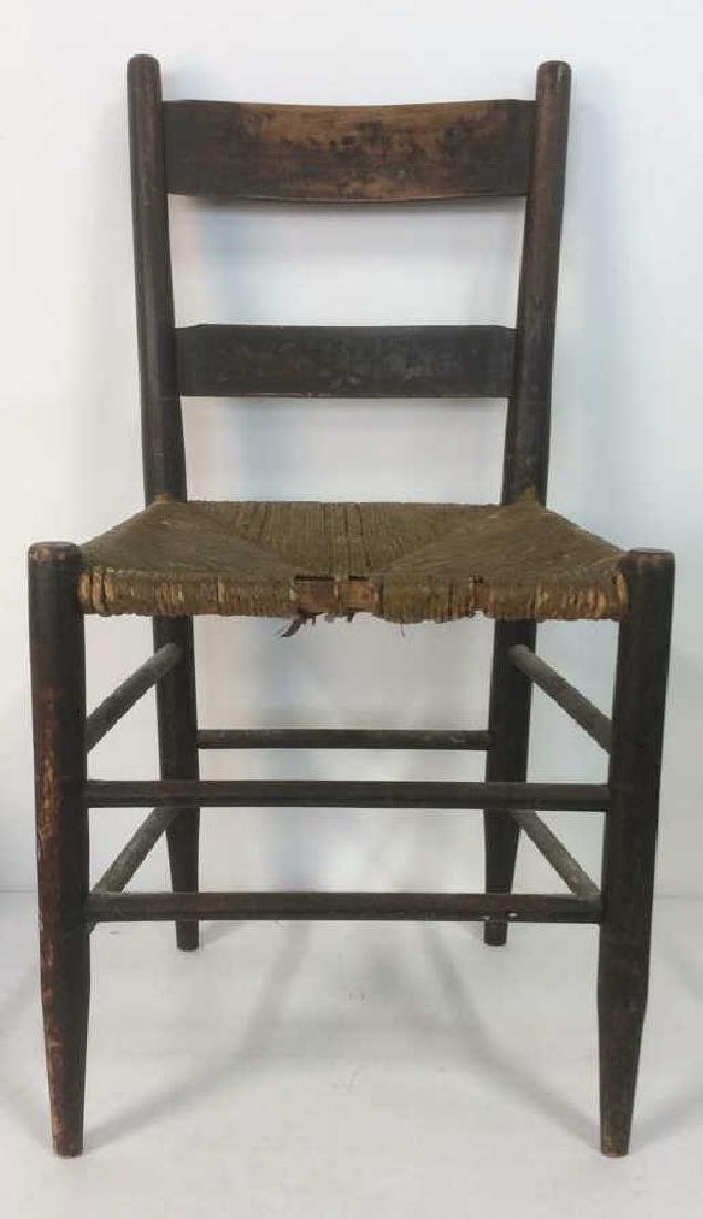 Three Vintage Wooden Side Chairs