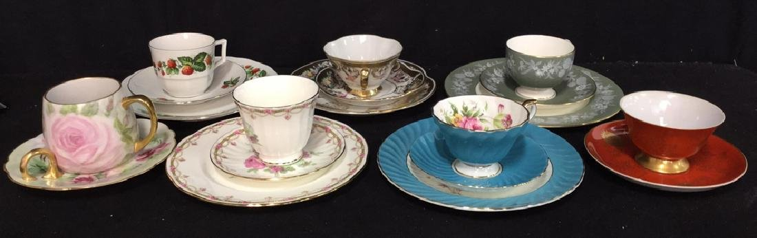 Group Lot Assorted Teacups  Plates And Saucers