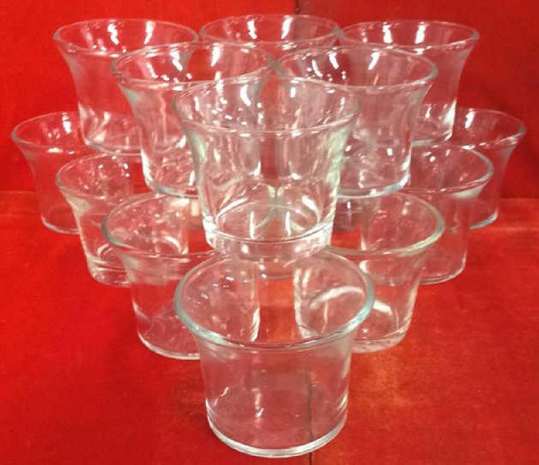 Lot 16 Glass Tea Candle Holders