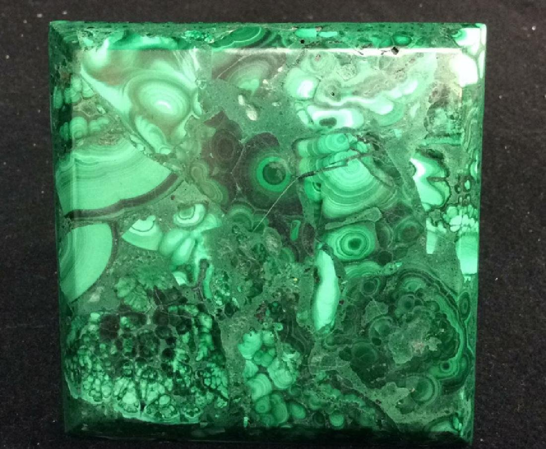 2 Malachite Tabletop Paper Weights