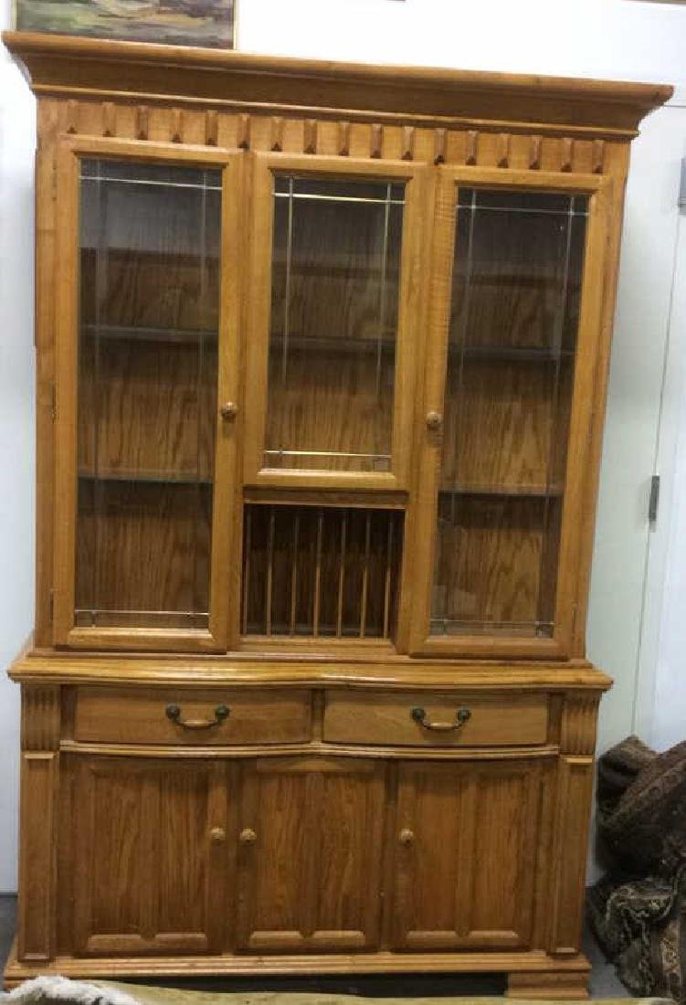 Carved Wooden China Cabinet Hutch Buffet