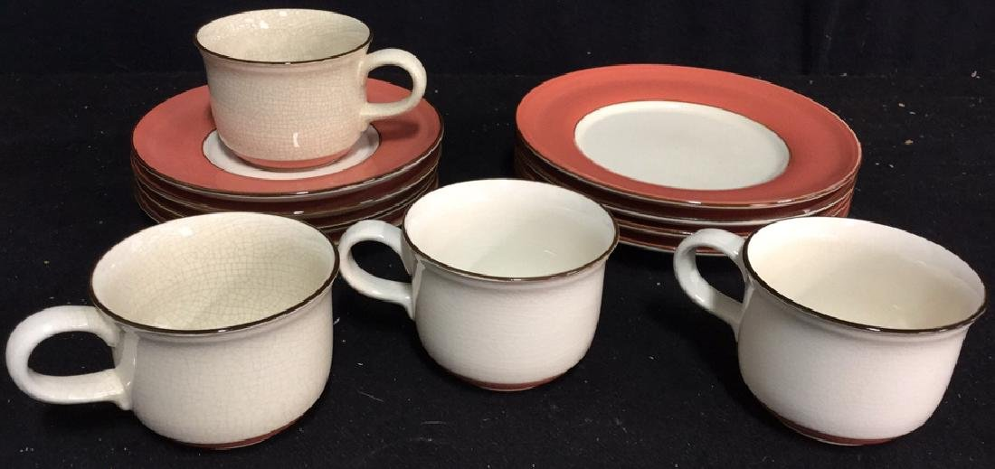 Group Lot 12 Pieces Ceramic Dessert Service