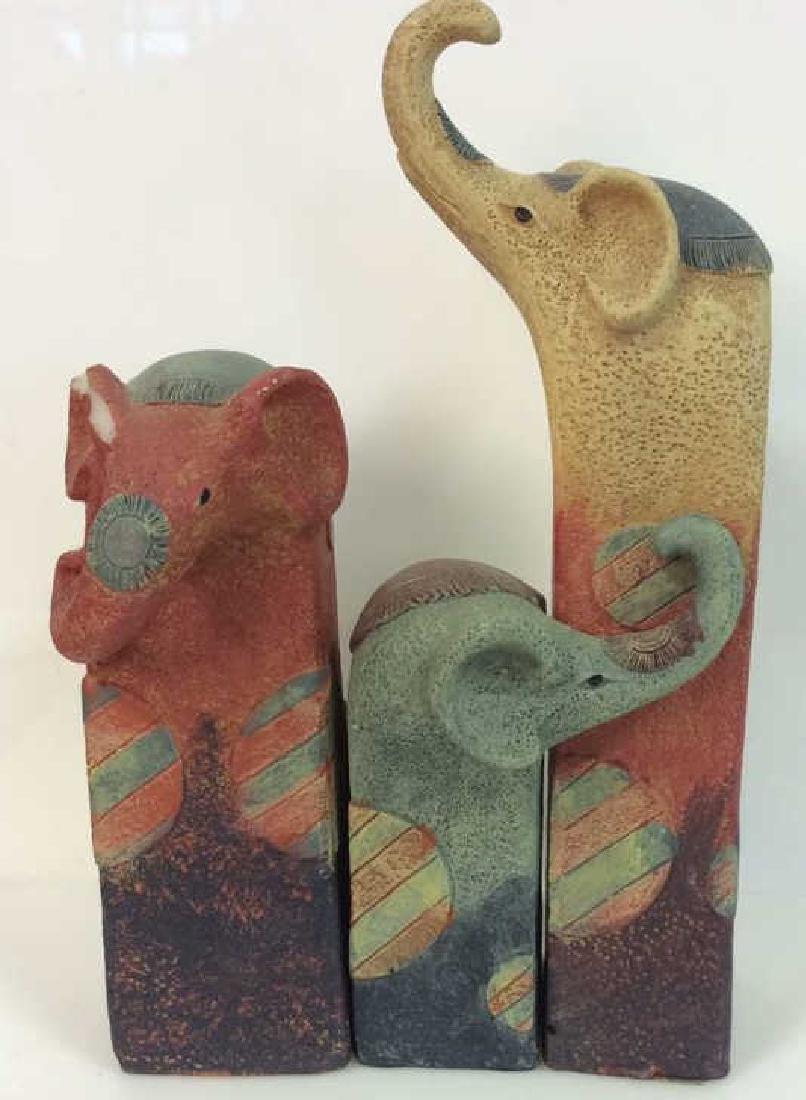 Lot 3 Elephant Figural Statuettes, Israeli