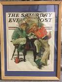 Framed Norman Rockwell Magazine Print