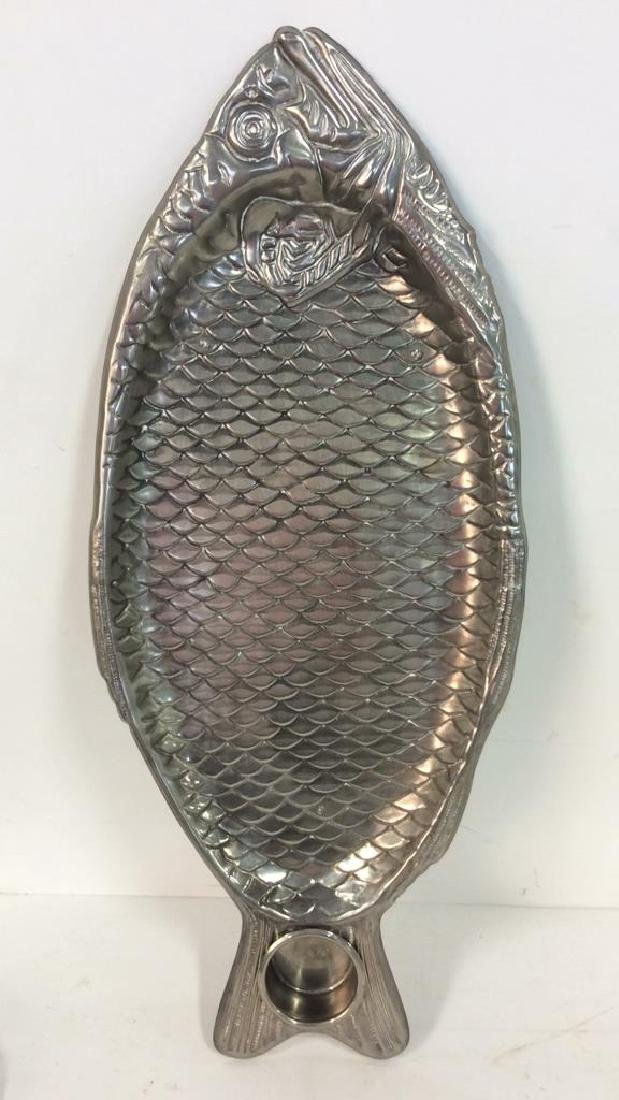Silver Plated Fish Serving Tray